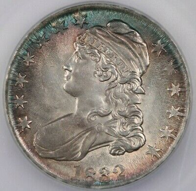 1832 Capped Bust Half Dollar ICG MS64 Flashy luster and beautiful color!