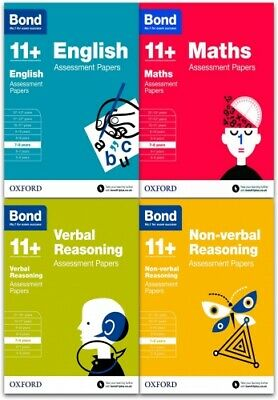 Bond 11+ plus Assessment Papers English Maths Verbal & Non Verbal 7-8 Years Pack