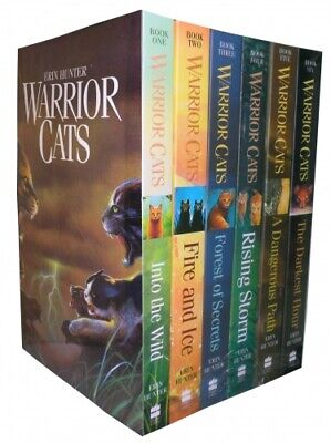 Warrior Cats Series 1 The Prophecies Begin - 6 Books Collection Set By Erin Hun