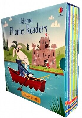 Usborne Phonics Young Readers 15 Picture Books Box Set Collection Gift Pack PB