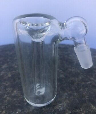 Glass Ash Catcher bowl 14mm Male 45 Degree Clear Glass Downstem  Fixed