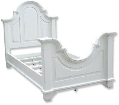Bed Trade Winds Chesapeake Traditional Antique Twin White Painted Mahogan
