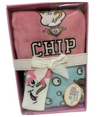 Disney Chip Cup Pyjama Fleece Cosy PJ And Socks Set Box Girls Nightwear PRIMARK