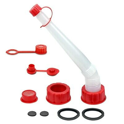 Gas Can Spout Nozzle Vent Kit + Extra Gasket- Fits Most Plastic Cans