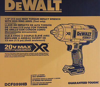 "Dewalt DCF899HB 1/2"" High Torque Hr Impact Wrench Bare Tool New w/ Warranty!"