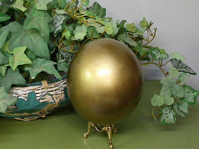 Beautiful Golden  Blown Ostrich Egg (real egg)