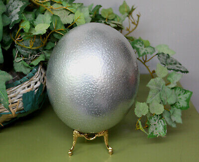 Beautiful Real silver Ostrich Egg !