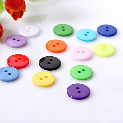 2 Holes Round Resin Buttons Sewing Scrapbooking Craft DIY Lots F2D6