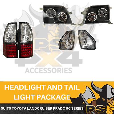 LED Tail lights Head Lights Combo to suit Toyota Landcruiser Prado 90 Series