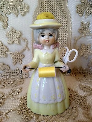 Vintage Dutch Girl Paste/Porcelain Pin Cushion