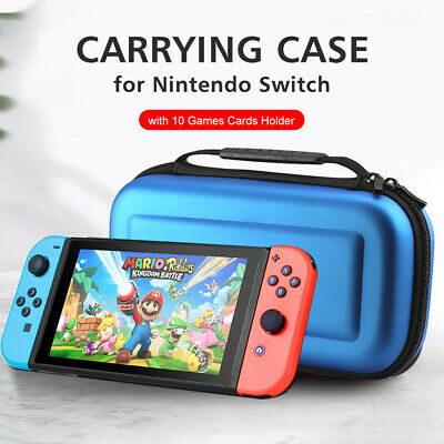 Carrying Case for Nintendo Switch with 10 Games Cards Holder EVA Hard Shell E3K2