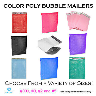 Various Sizes Color Poly Bubble Mailers Self Sealing Shipping Bubble Envelopes