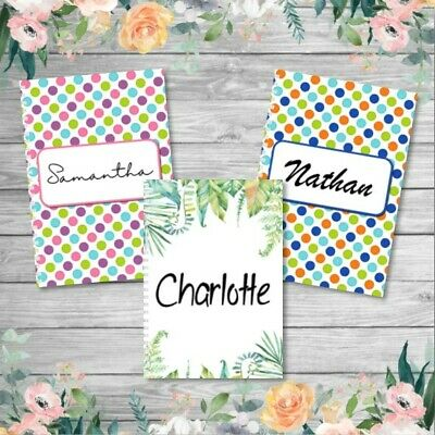 PERSONALISED NOTEBOOK / NOTEPAD - Assorted Designs