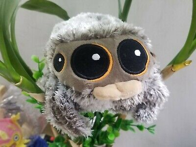 """Authentic Lucas The Spider Plush 6.5"""" Long Gray Brown Fluffy"""