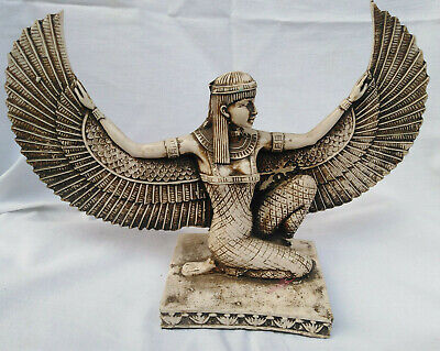 Egyptian Goddess Statue Isis Winged Goddess Feminine Life Spiritual Beauty 10.5""