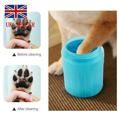 UK Portable Dog Paw Clean Barrel Pet Clean Brush Cup Dog Foot Cleaner Feet Washe