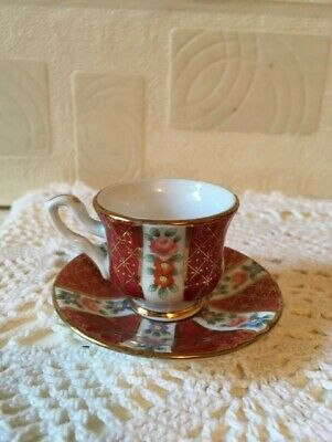 Vintage Chinese Porcelain Miniature Cup & Saucer