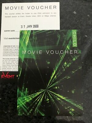 One Child Event/ Greater Union/ Village/ bce movie ticket - Long Expiry