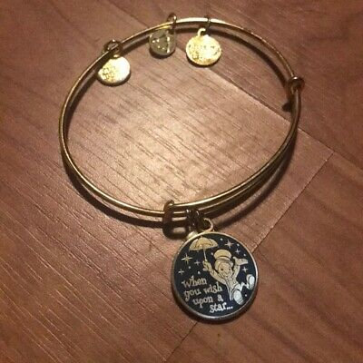 Disney Parks Authentic Alex and Ani When You Wish Upon a Star Bracelet Gold NEW