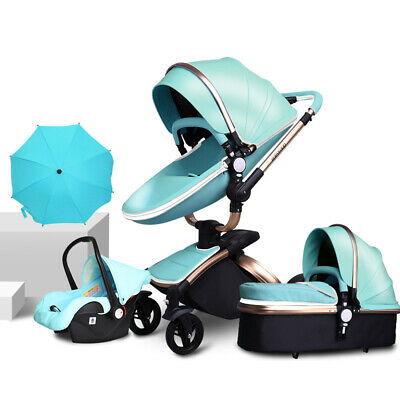 2019 Luxury Baby Stroller 3 In 1 High Quality Pram Foldable Pushchair & Car Seat