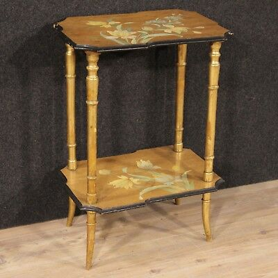 Table Furniture Coffee Table Living Wood Lacquered Painting Antique Style