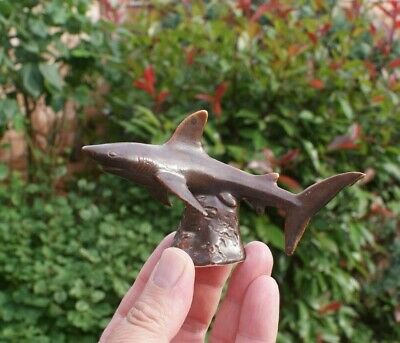 Shark Figure Studio Pottery/ Ceramic Ornament Signed