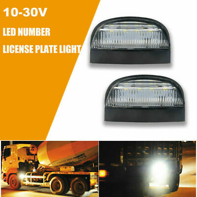 Universal 4 LED License Number Plate Light Lamps for Truck SUV Trailer Lorry 2pc