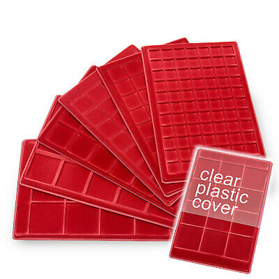 Schulz  COINS RED, SQUARE TRAYS with Cover Multi Compartments Option