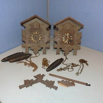 Vintage German Black Forest Cuckoo Clocks parts or restoration