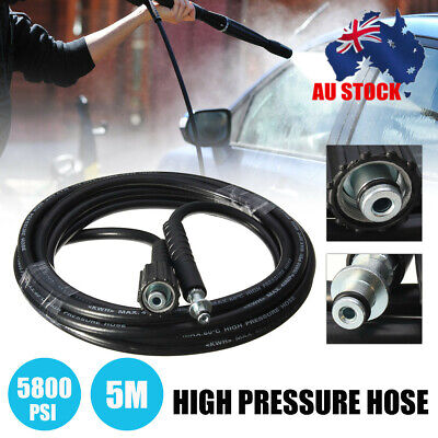 5M High Power Pressure Washer Clean Hose Extension Washing Tube Cleaning 5800PSI