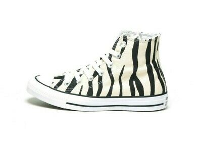 CONVERSE CHUCK TAYLOR ALL STAR HI 166258F ZEBRA/BLACK/WHITE (msrp: $60)