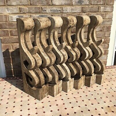 Set Of 6 Large Victorian Style Architectural  Wood Corbels Farmhouse Shic