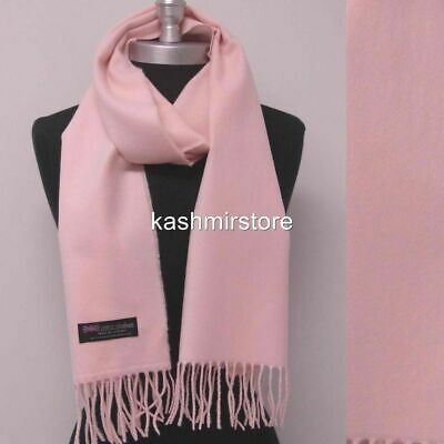 Hd Quality CASHMERE SCARF NECK WARMER SCOTLAND MADE SOLID D*YELLOW SOFT FASHION