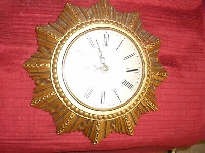 "Vintage ""Smiths""Starburst""Wall Clock<Nice Condition,G.w.o"