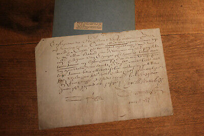 1646 King Louis XIV Italian ingeneer manuscript on vellum receipt for services