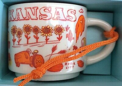 Starbucks Been There Series Ornament Kansas 2 oz. Mug New