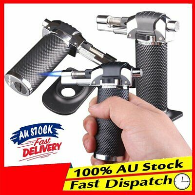 Welding Torch Jet Lighter Flame Straight Windproof Refillable Butane Gas AU PP