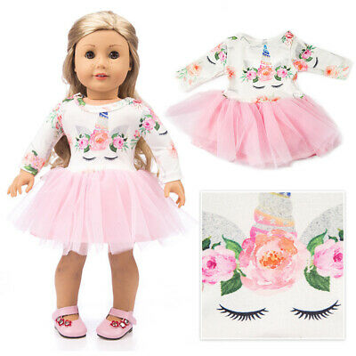 Doll Clothes Floral Yarn Dress Outfits For 18 inch  Our Generation