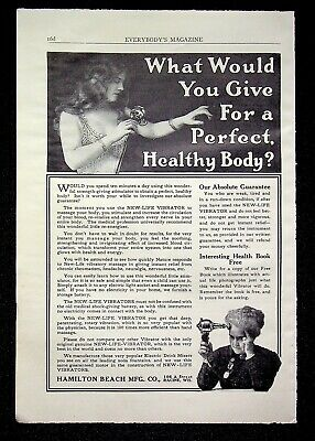 1913 Hamilton Beach Mfg. Co. NEW LIFE VIBRATOR Original Print Ad