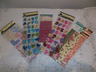 Various Card & Scrapbook Embellishments/textured letters/ Die-Cuts