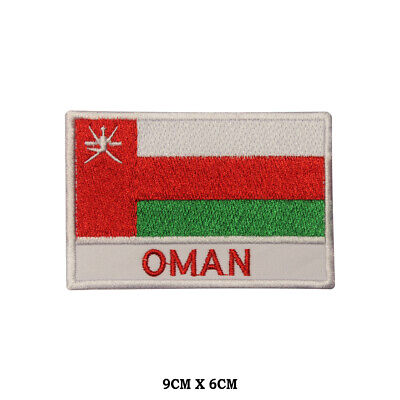 NEW OMAN COUNTRY FLAG SMALL IRON ON PATCH CREST BADGE ..
