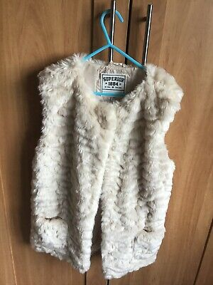 Girls Furry Gilet From M&S Age 13-14