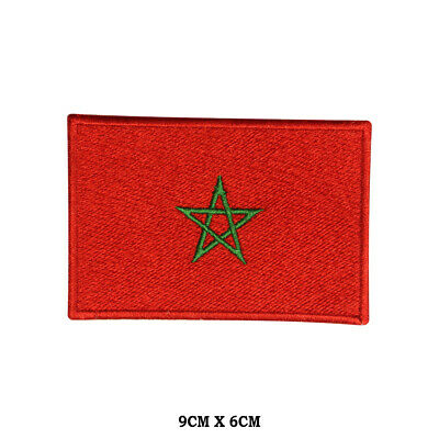 Patch embroidered Patch Flag MOROCCO MOROCCAN Fusible Badge Coat of arms