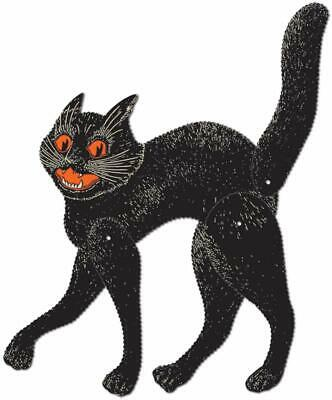 Beistle Jointed Scratch Cat, 20-1/2-Inch Halloween-Vintage Party Item Black Cat!