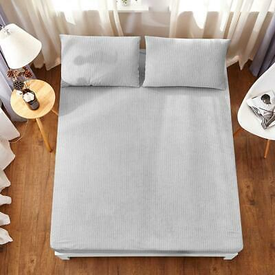 All Size Fully Fitted Waterproof Cotton Stripe Anti-slip Mattress Protector Cove