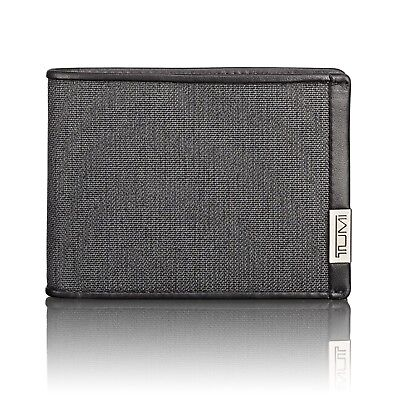 Tumi Delta ID Lock Shielded Slim Double Billfold In Anthracite Black Or Green