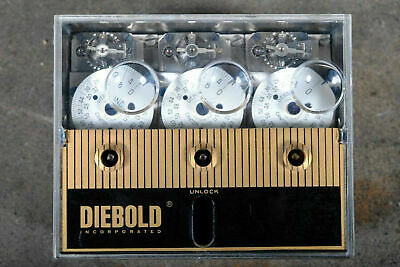 3-Movement Vintage Diebold Mosler Yale TIME SAFE LOCK with KEY s/n 953-A