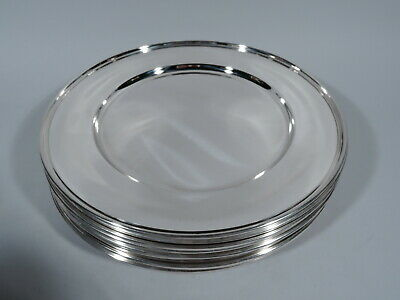 Kirk Plates - 258 - Set of 12 Modern Dinner Chargers - American Sterling Silver