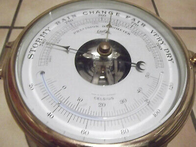 Dekoratives Altes Schiffs-Barometer Von Schatz,Made In Germany  #7590