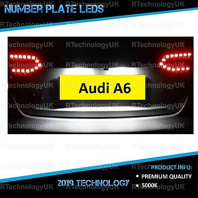 PREMIUM Audi A6 C6 Bright Xenon White LED Number Plate Light Bulbs